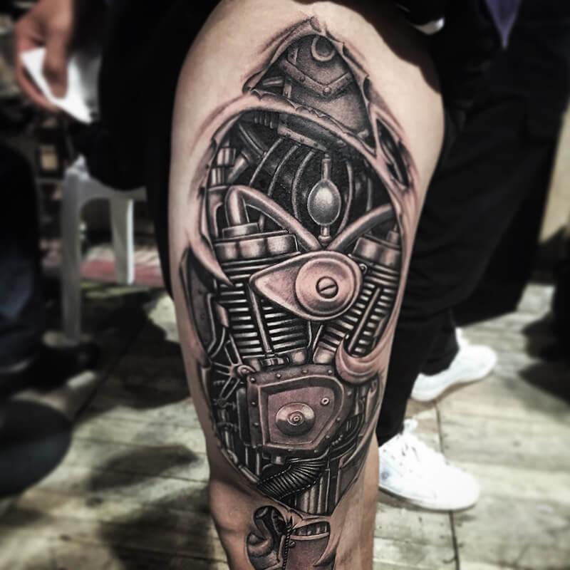 Тату Биомеханика - Татуировка киберпанк - Татуировка биомеханика - Тату биомеханика значение