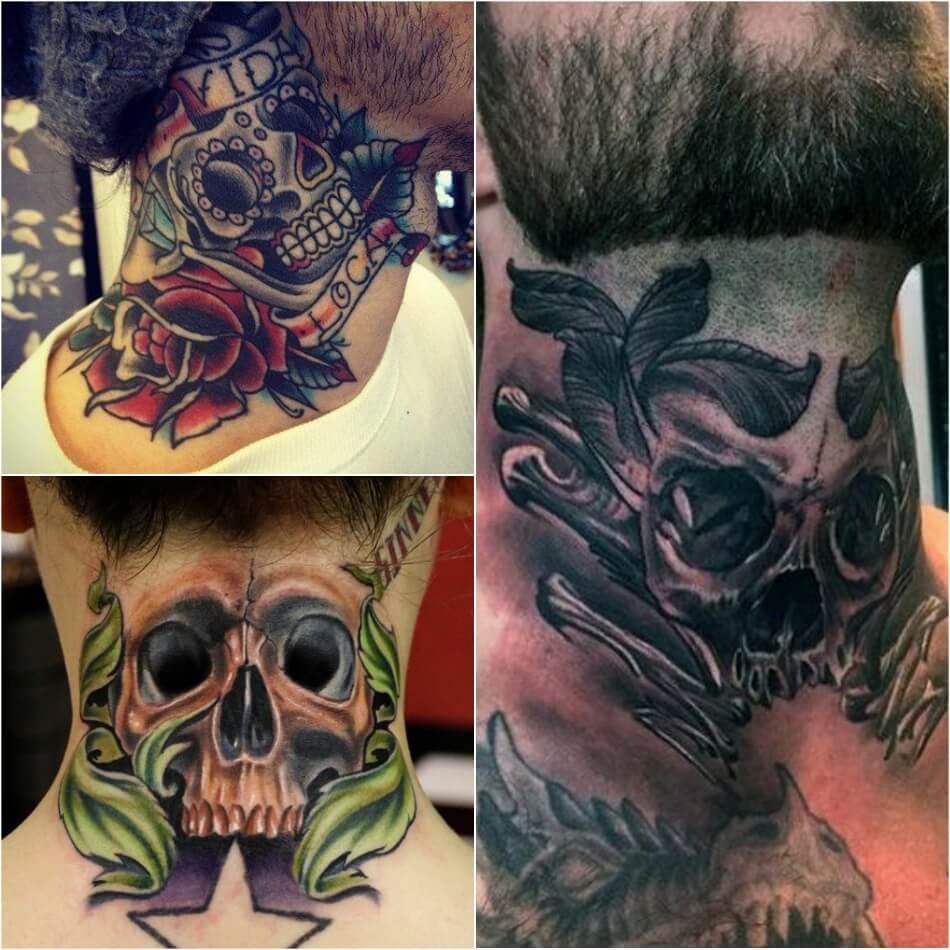 Тату на Шее - Татуировка на шее - Тату на Шее Значение - Тату на шее череп