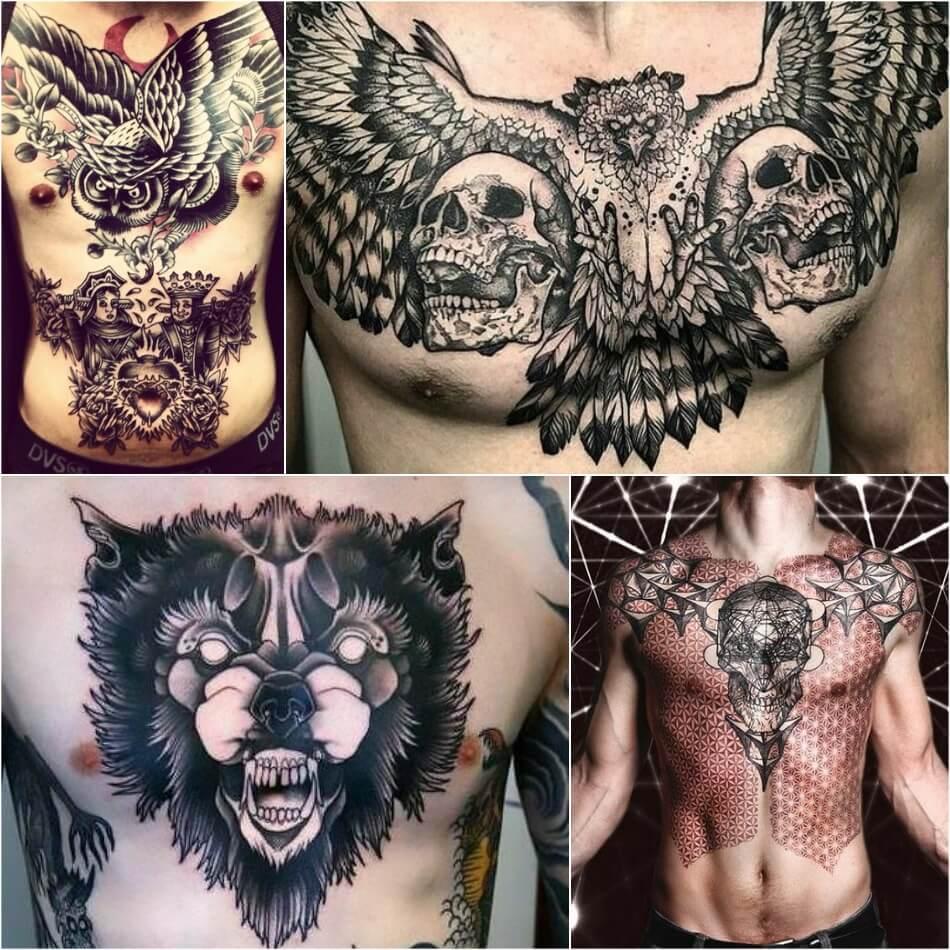 Мужские тату на груди - Тату на груди для Мужчин - Татуировки на груди мужские