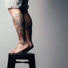 Тату на ноге - Татуировка на ноге - Тату на голени - Татуировка на голени