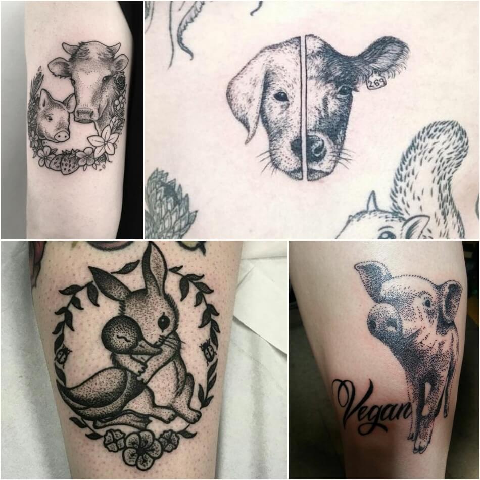 Тату для Вегетарианцев - Эскизы Веган -Тату - Татуировки для веганов
