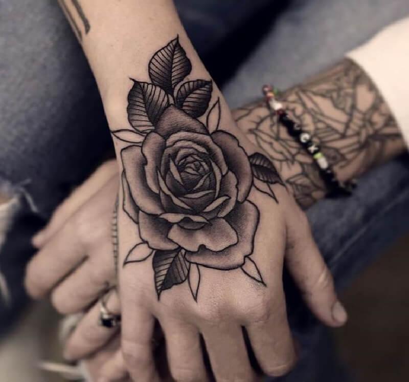 Тату на кисти - Татуировка на кисти - Кисти рук тату - Тату на кисти роза