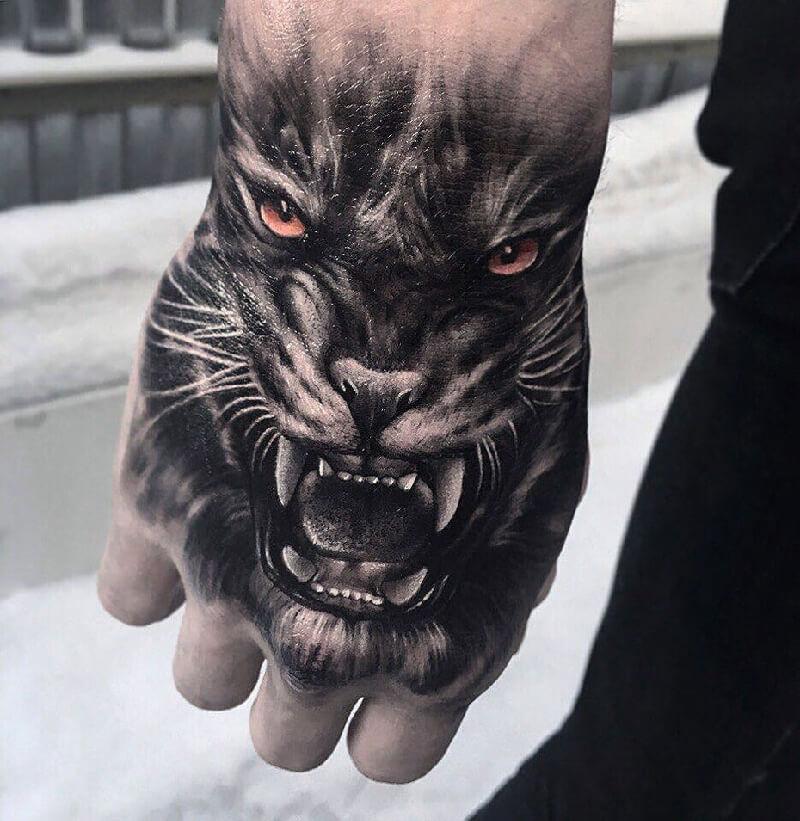 Тату на кисти - Татуировка на кисти - Кисти рук тату - Тату на кисти тигр