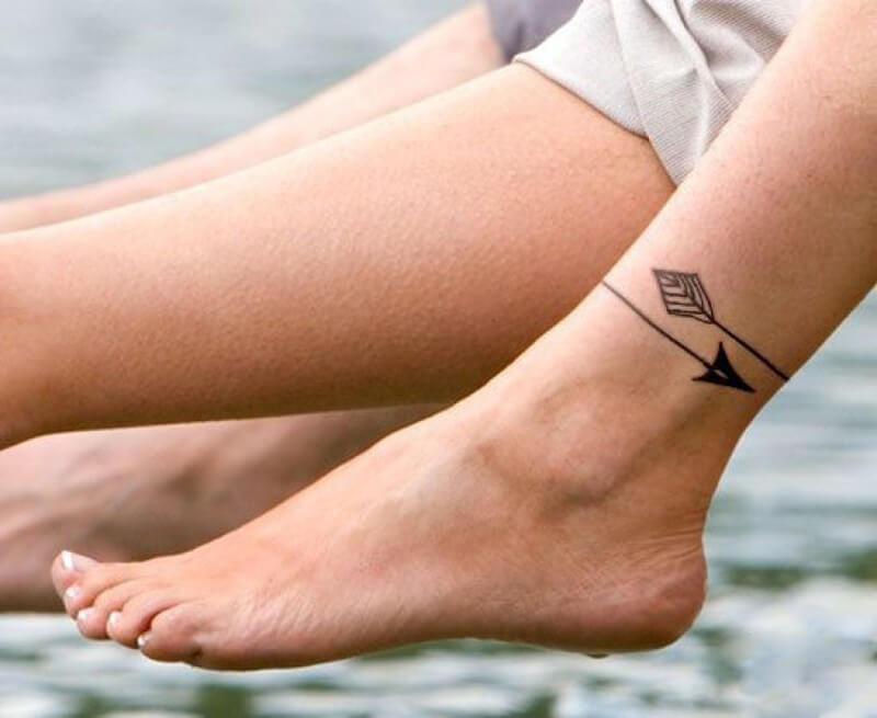 Тату на ноге - Татуировка на ноге - Тату на щиколотке - Татуировка на щиколотке