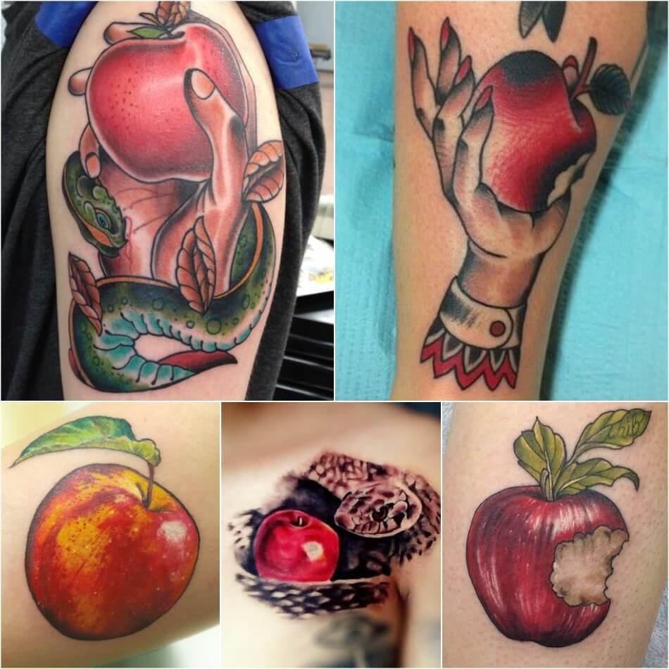 Тату фрукты - Татуировка фрукты - Тату фрукты значение - Тату яблоко