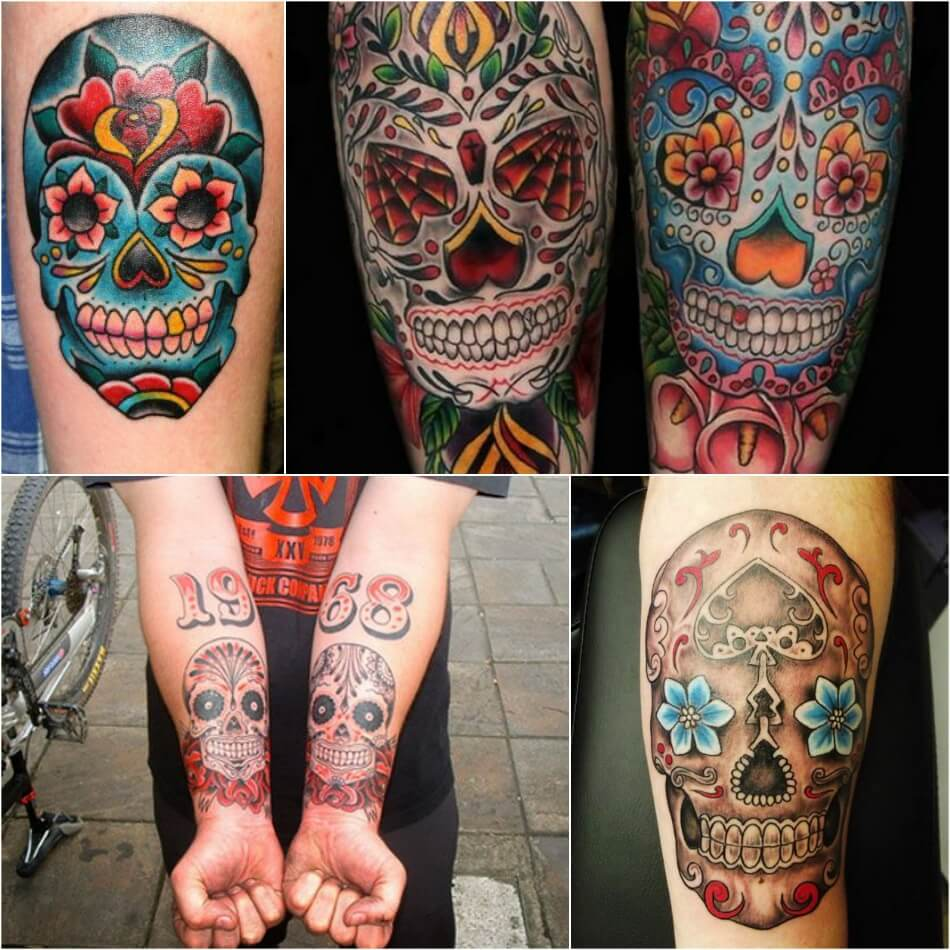 Тату Мексика Череп - Тату калавера - Тату катрина - Тату мексиканский череп на руке