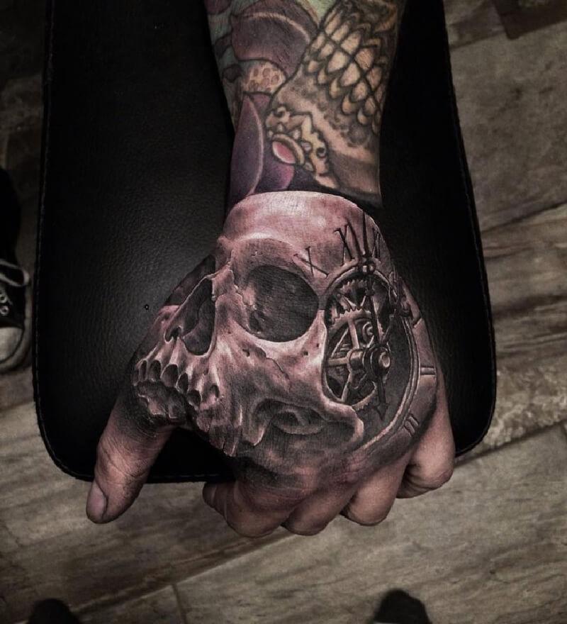 Тату на кисти - Татуировка на кисти - Кисти рук тату - Тату на кисти череп