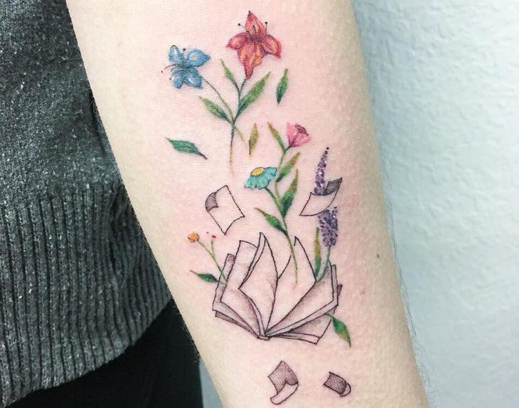 Тату Книга - Идеи Татуировки для Любителей Чтения