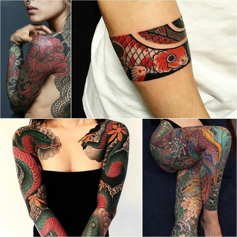 Тату Япония - Тату Японский стиль - Японские тату - Тату Япония женские