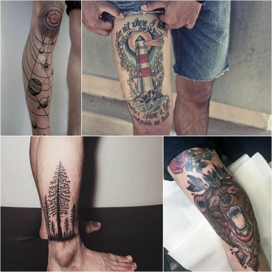 Тату на ноге - Татуировка на ноге - Тату на ноге мужские - Тату на ноге для мужчин