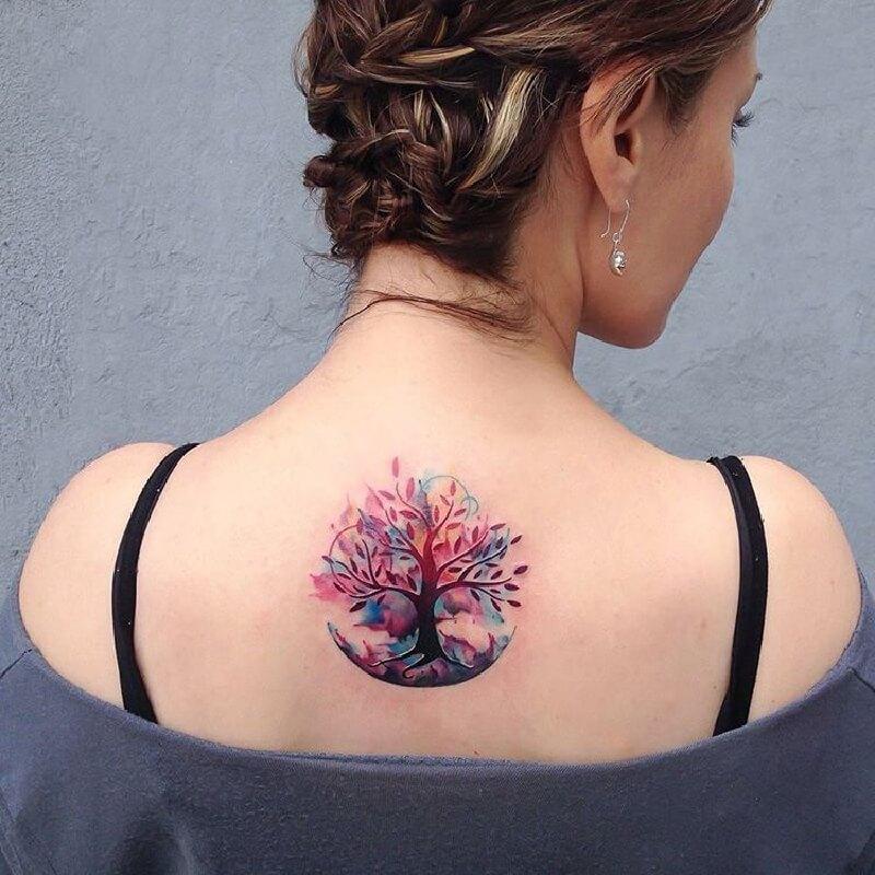 Тату дерево - Татуировка дерево - Тату с деревом - Тату дерево женские - Тату дерево для женщин