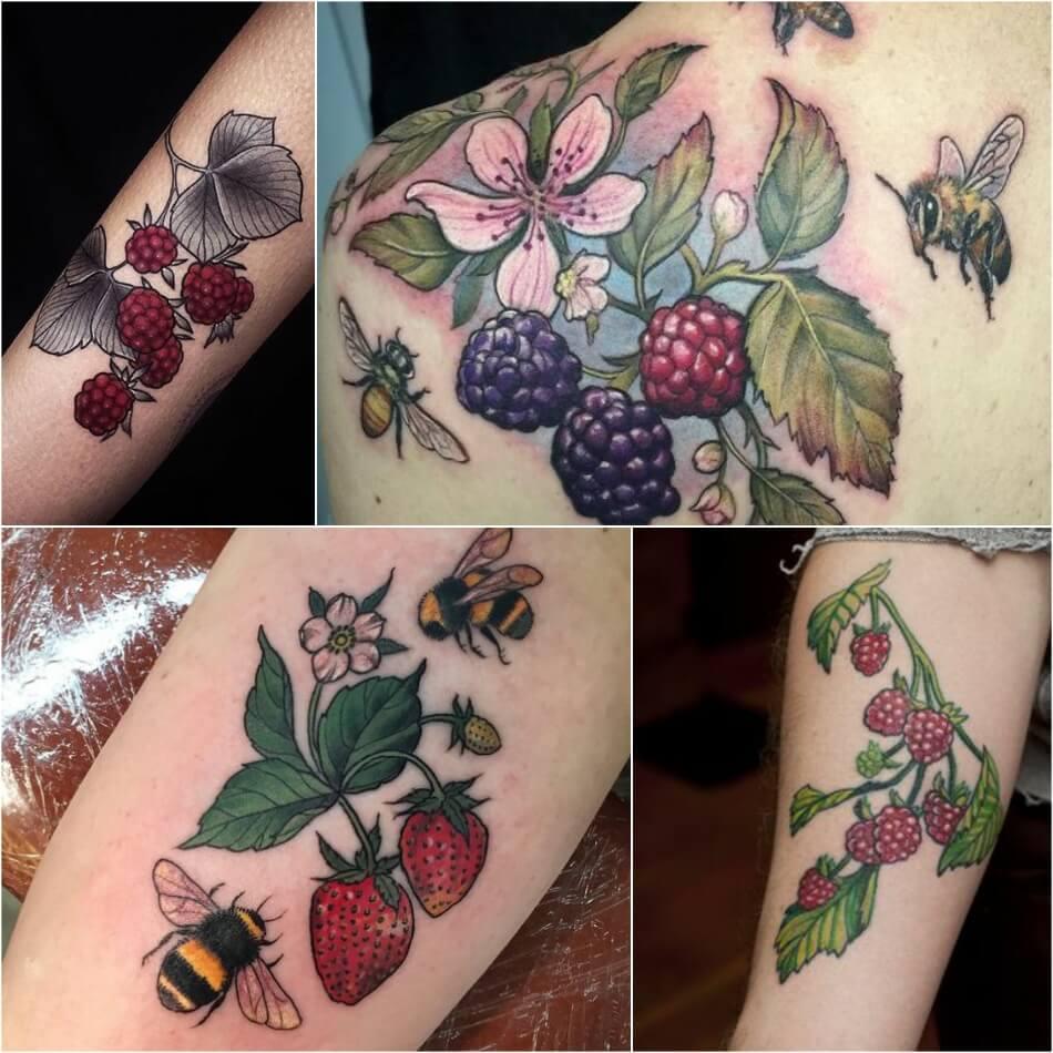 Тату фрукты - Татуировка фрукты - Тату фрукты значение - Тату ягода