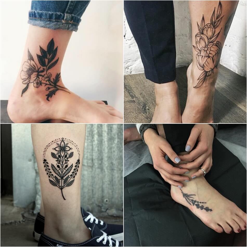 Тату на ноге - Татуировка на ноге - Тату на ноге женские - Тату на ноге для девушек