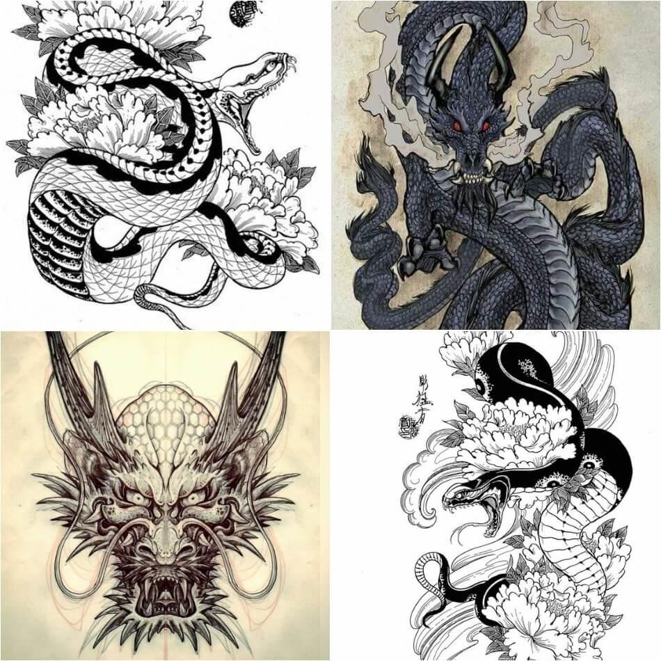 Тату Япония - Тату Японский стиль - Японские тату - Тату Япония эскизы