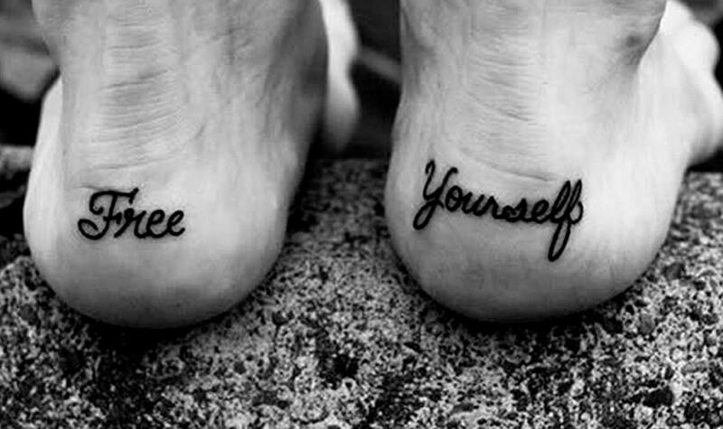 Тату на ноге - Татуировка на ноге - Тату на пятке