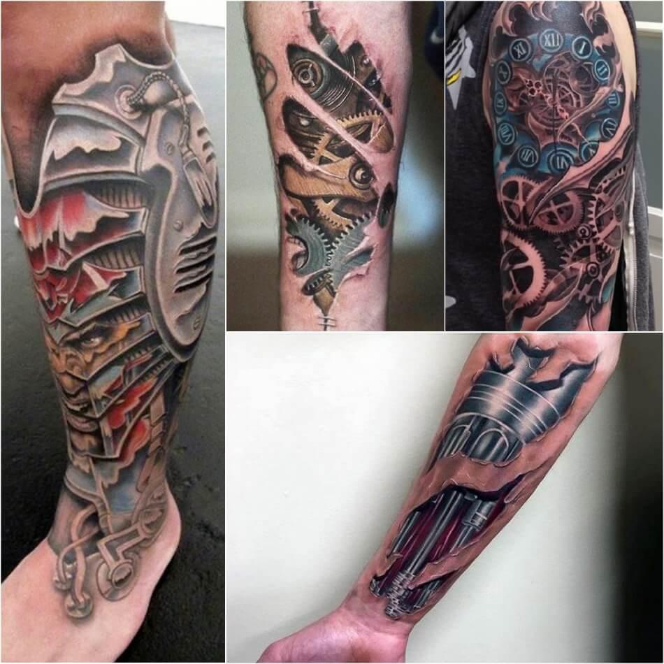 Тату Биомеханика - Татуировка киберпанк - Татуировка биомеханика - Тату биомеханика мужские