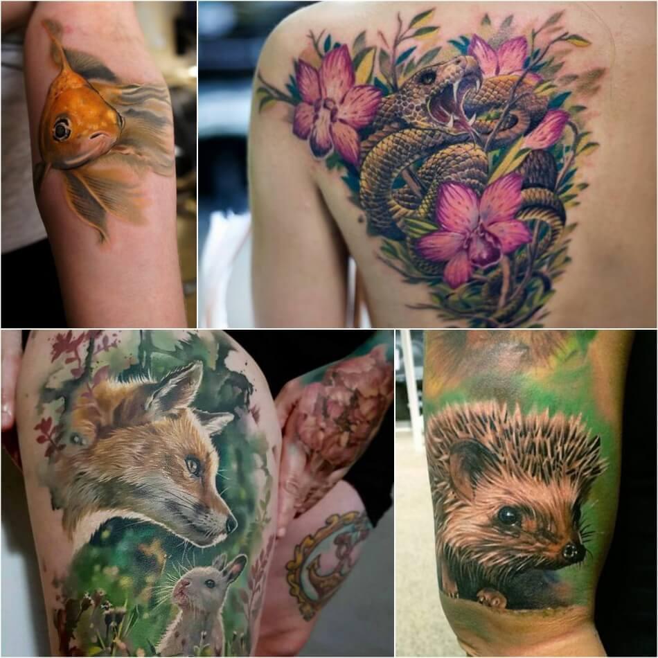 Тату Реализм - Татуировка Реализм - Тату стиль Реализм - Тату реализм женские