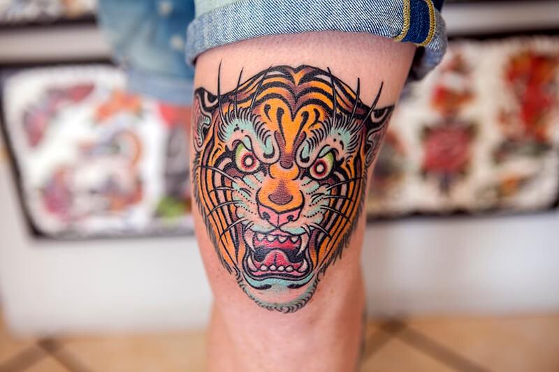 Тату на ноге - Татуировка на ноге - Тату на Коленях - Колени тату
