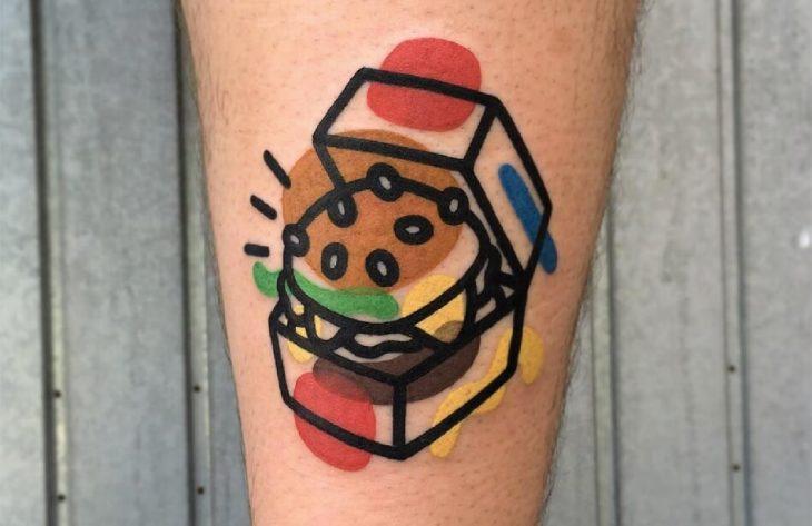 Тату Фастфуд - Идеи Тату для любителей Пиццы и Бургеров - Тату фастфуд эскизы