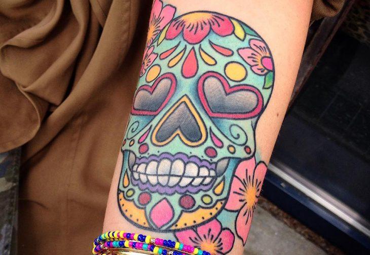Тату Череп Мексика - Тату мексиканский череп - Тату калавера