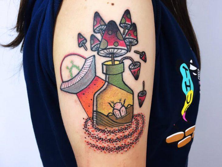 Тату Ньюскул - Татуировки Ньюскул для Мужчин и Женщин