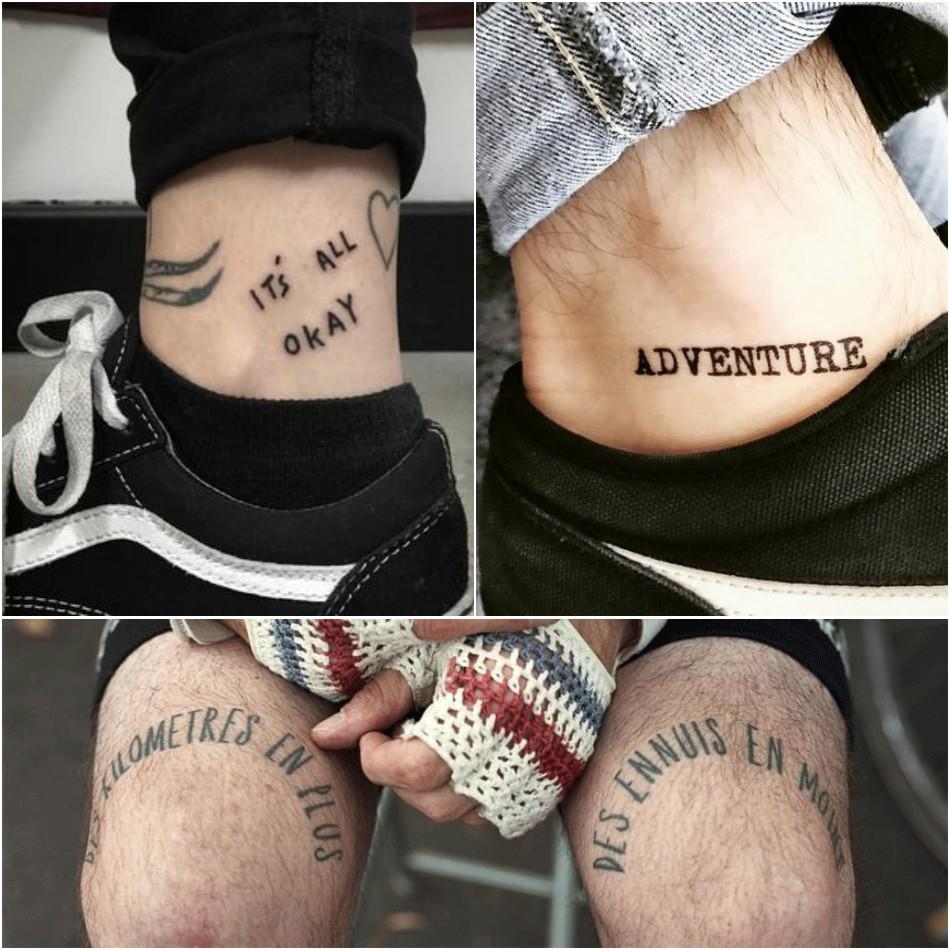 Тату надпись мужская - Тату надпись для мужчин - Надпись на ноге мужскаяТату надпись мужская - Тату надпись для мужчин - Надпись на ноге мужская