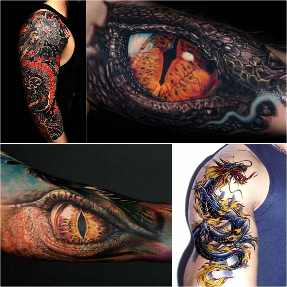 Тату дракон - Татуировка дракон - Тату дракон мужские - Тату дракон для мужчин