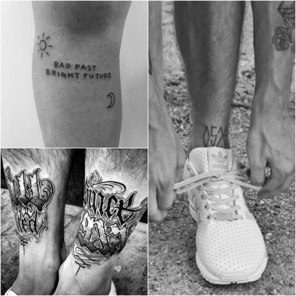 Тату надпись мужская - Тату надпись для мужчин - Надпись на ноге мужская