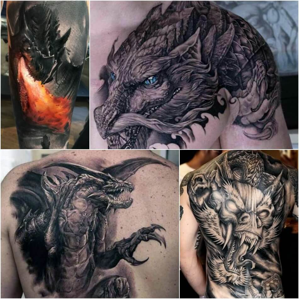 Тату дракон - Татуировка дракон - Тату дракон реализм