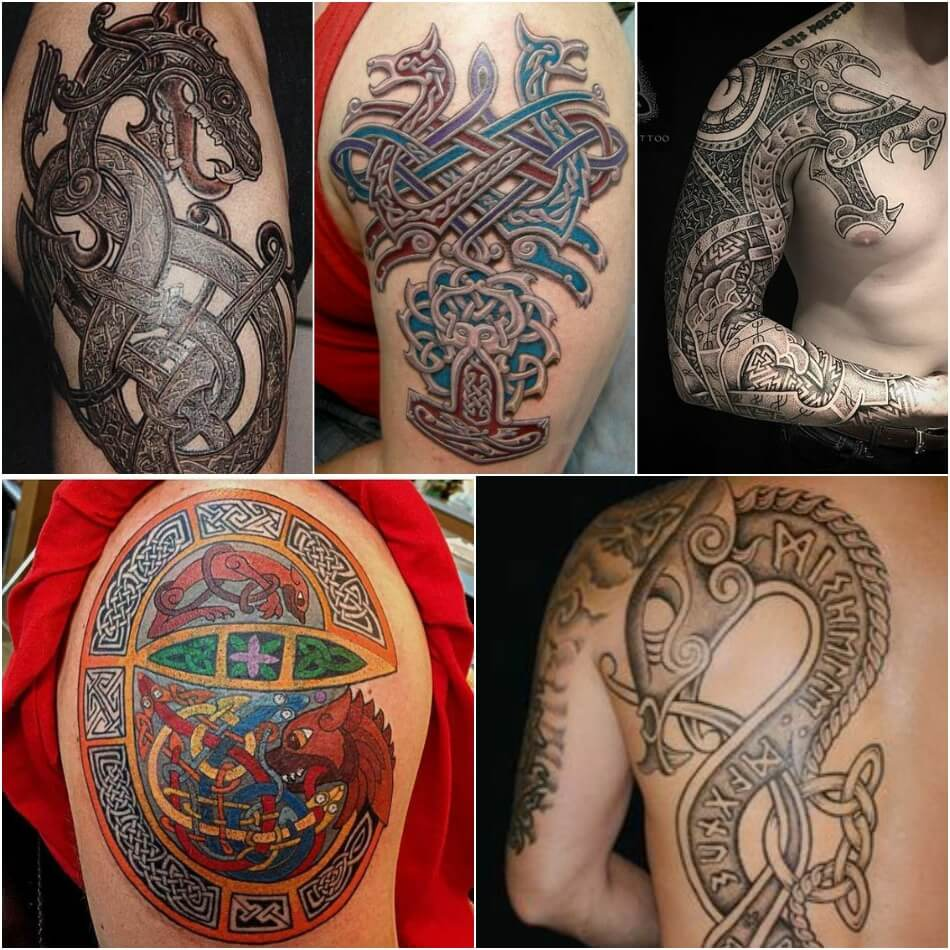Тату дракон - Татуировка дракон - Тату дракон трайбл - Тату дракон кельтика