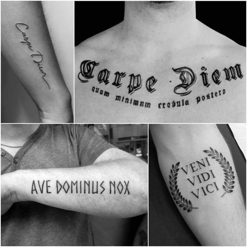 Тату надпись мужская - Тату надпись для мужчин - Надпись латынь мужская