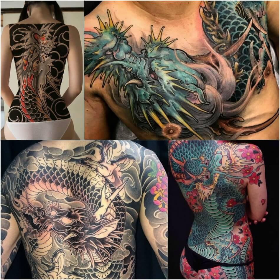 Тату дракон - Татуировка дракон - Тату дракон япония