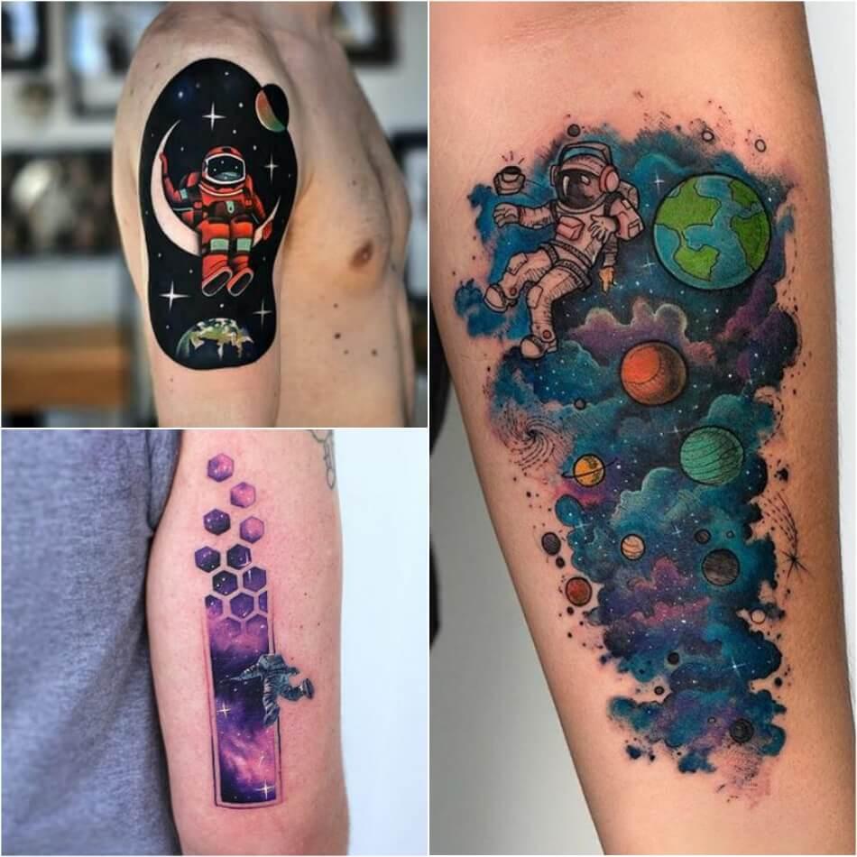 Тату Космос - Тату Космонавт - татуировка космонавт