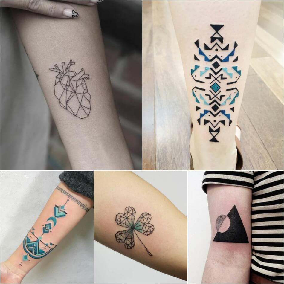 Тату геометрия - Геометрические тату - Татуировка геометрия - Тату геометрия женские