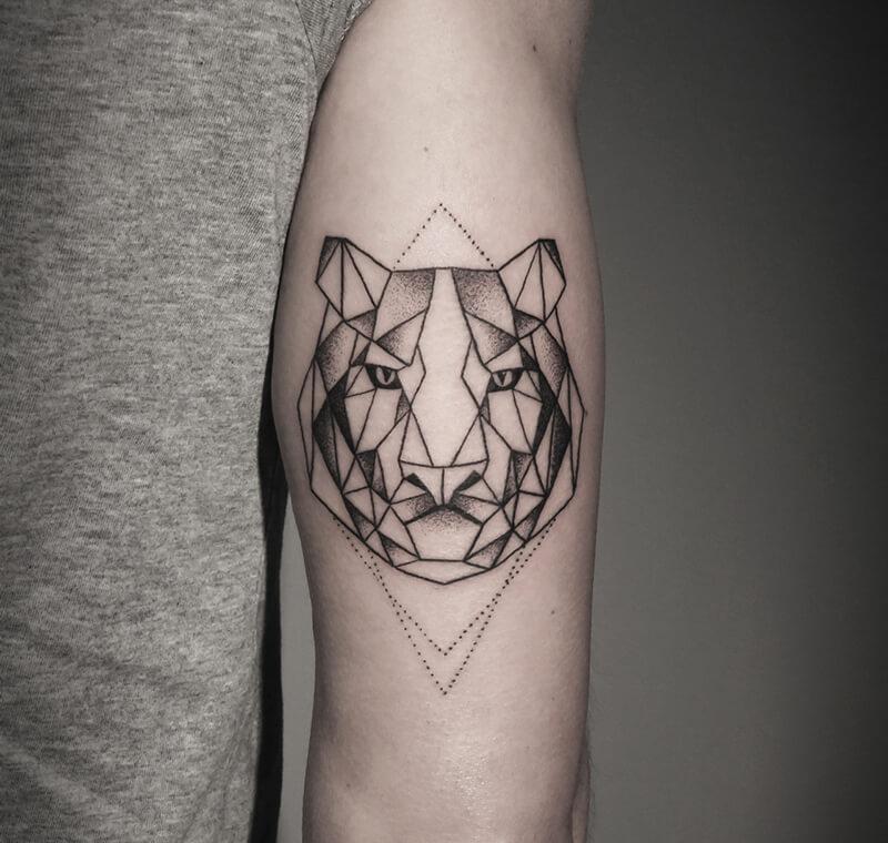 Тату геометрия - Геометрические тату - Татуировка геометрия животные