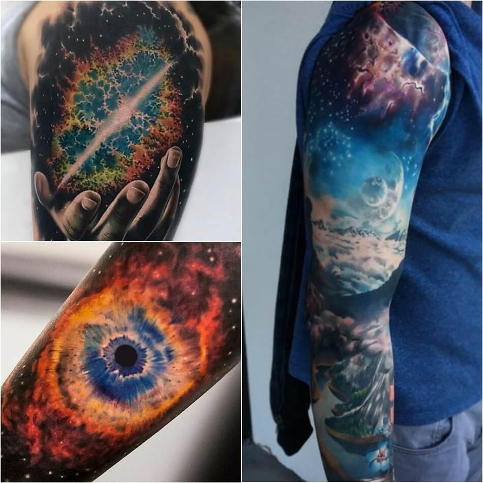 Тату космос -Мужские тату космос - Татуировки космос для мужчин