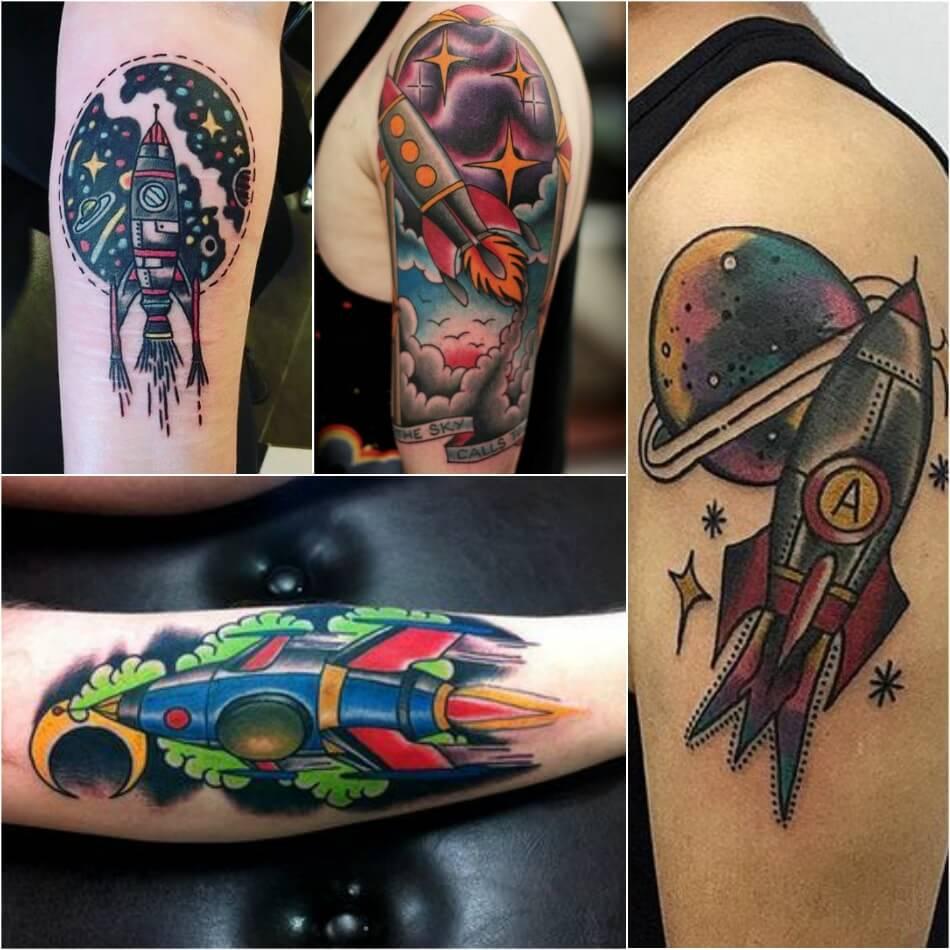 Тату космос - Тату ракета - татуировка ракета