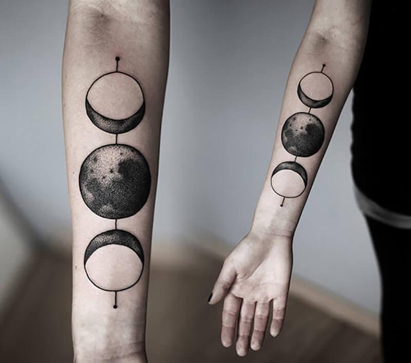 Тату космос - Татуировка космос - Тату космос планеты