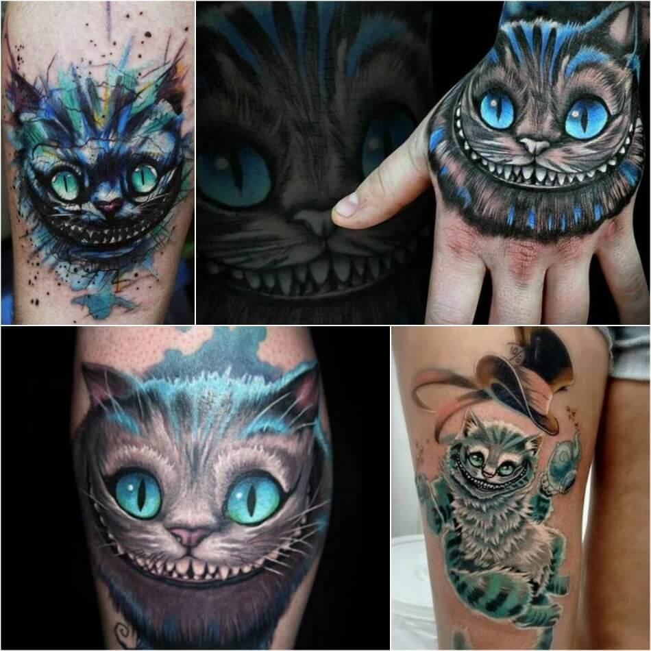 Тату кот - Тату Чеширский кот - Тату кот чешир