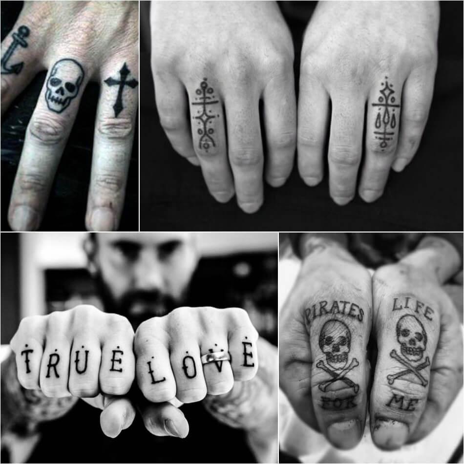 Тату на пальце - Мужские тату на пальце - Тату на пальце для мужчин - Татуировка мужская на пальце