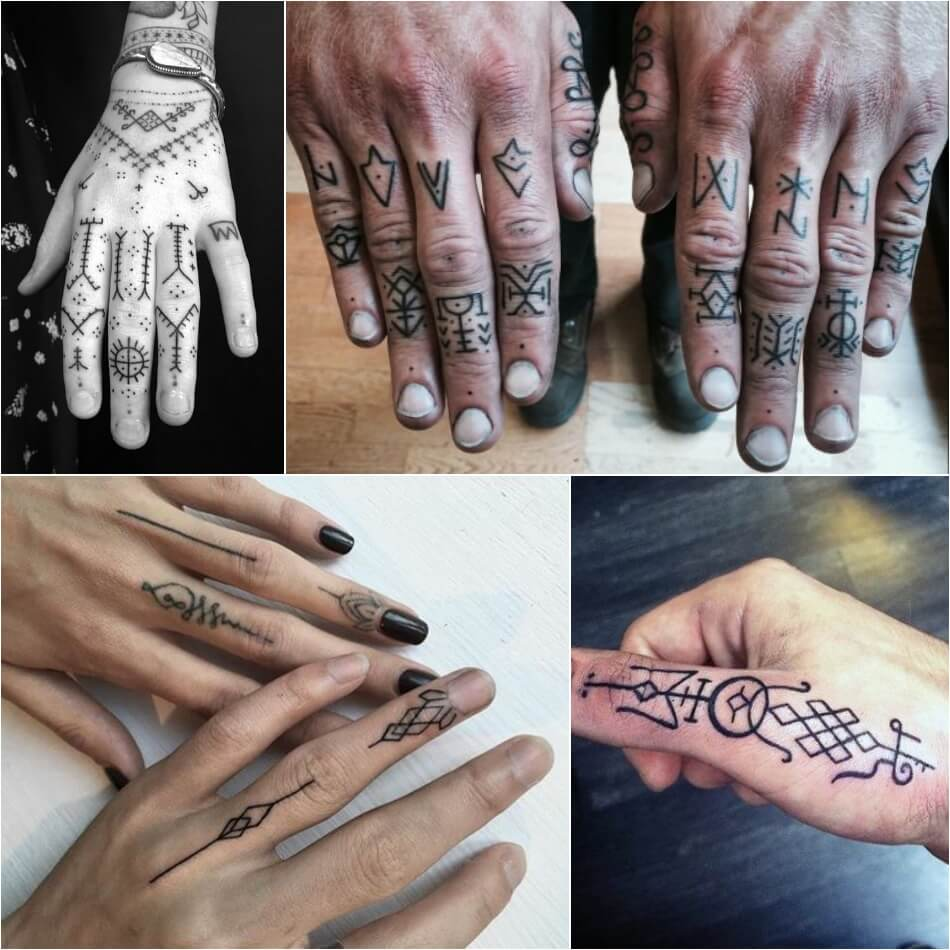 Тату на пальце - Тату на пальце орнатент - Татуировка орнамент на пальце