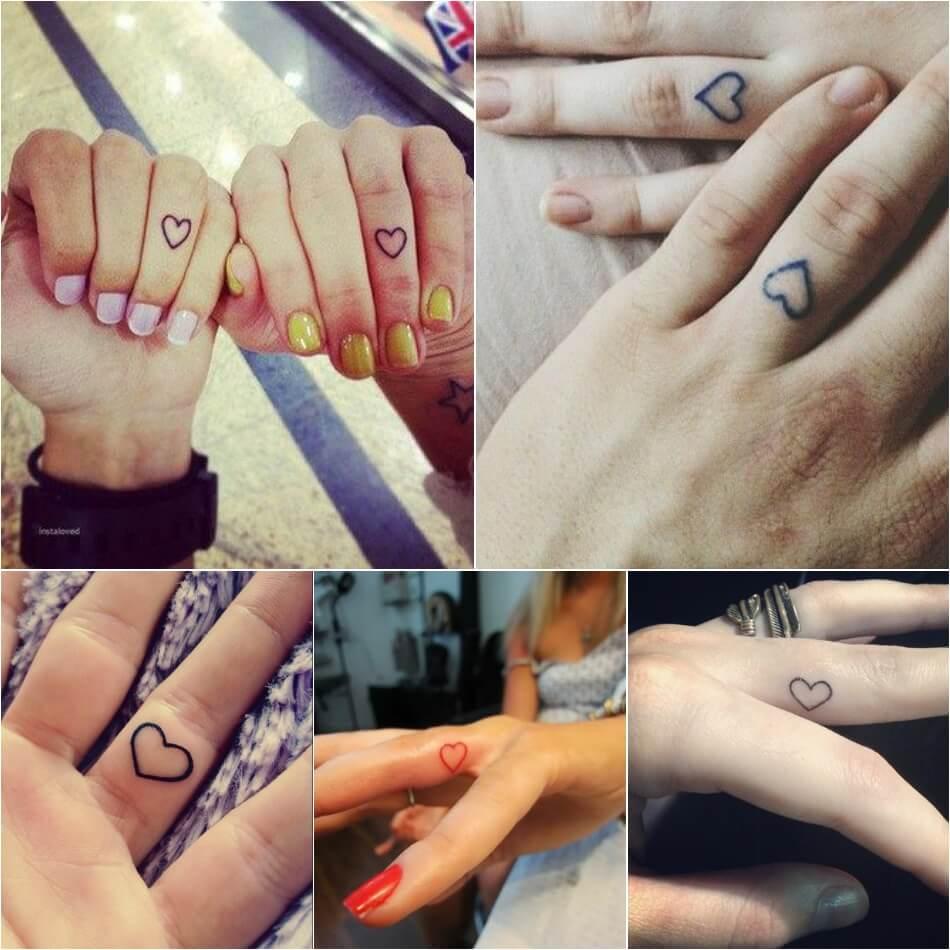 Тату на пальце - Тату на пальце сердце - Татуировка сердце на пальце