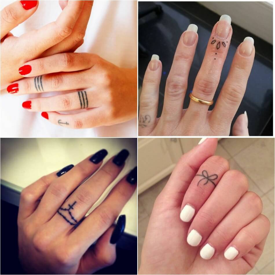 Тату на пальце - Татуировка на пальце - Женская тату на пальце - Тату на пальце для девушек