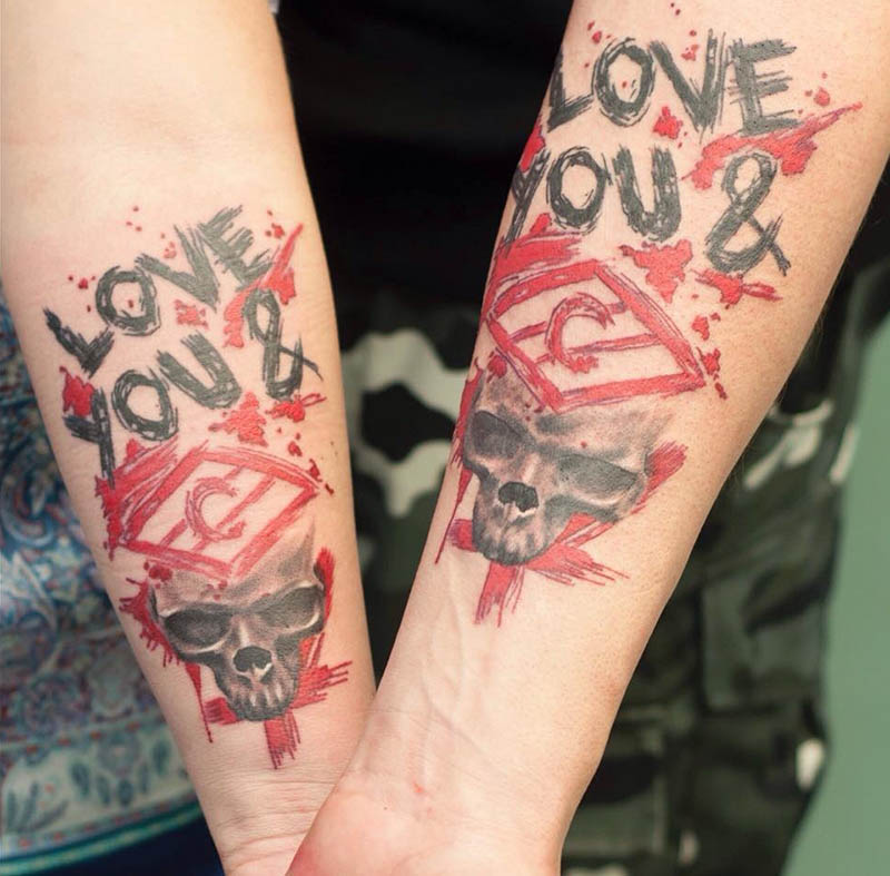 Тату треш полька - Тату треш полька шрифт - Татуировка треш полька шрифт