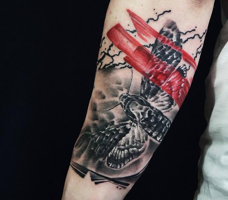 Тату треш полька - Татуировка треш полька - Реализм треш полька тату