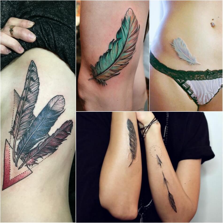 Тату перо - Татуировка Перо - Тату с пером - Тату перо женскиеТату перо - Татуировка Перо - Тату с пером - Тату перо женские
