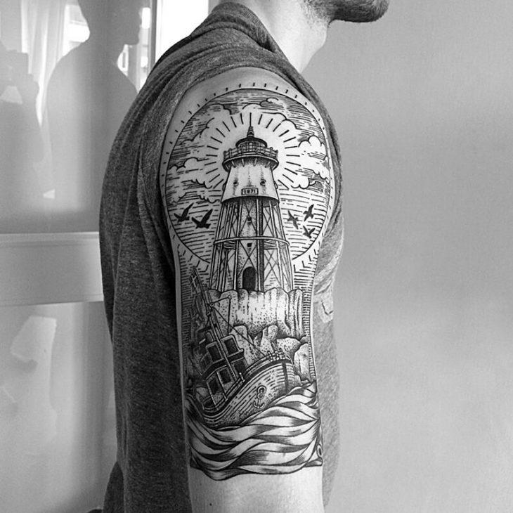 Мужские тату на плече - татуировки для мужчин на плече - Тату для мужчин на плече