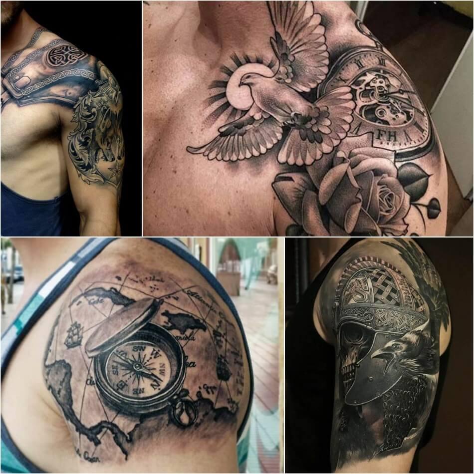 Фото мужских тату на плече орнаменты