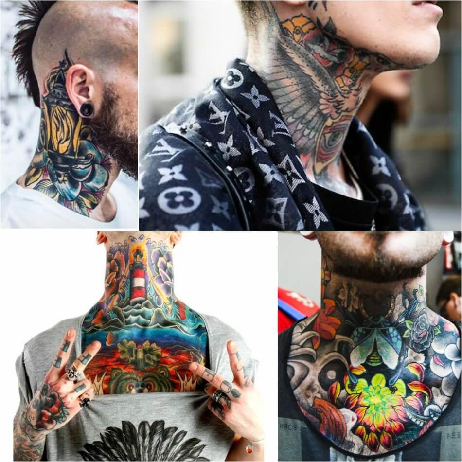 Мужские тату на шее - Мужские татуировки на шее - мужские тату на шее эскизы