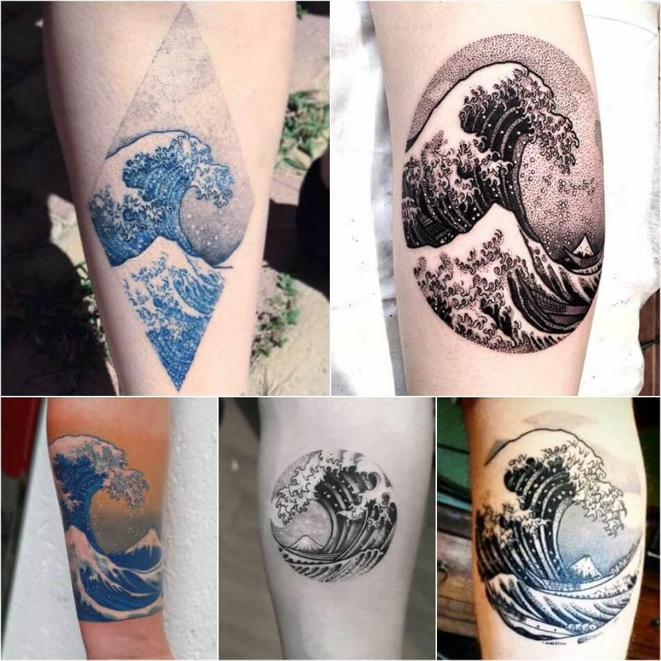Тату Море - Тату Волна - Татуировка морская волна